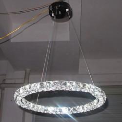 LED Crystal Pendant Light Lighting Modern Single D80CM Three Sides K9 Crystal Indoor Ceiling Lights Lamp Fixtures