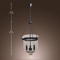 Max 60W Traditional/Classic / Vintage Mini Style Electroplated ChandeliersLiving Room / Bedroom / Dining Room / Study Room/Office /