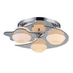 Modern Ceiling Light Flush Mount 3 Lights E26 E27/Contemporary Bedroom / Hallway Metal