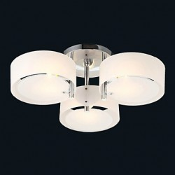 Flush Mount Modern/Contemporary 3 Lights Ceiling Light/Kids Room/Entry/ Hallway/ Metal