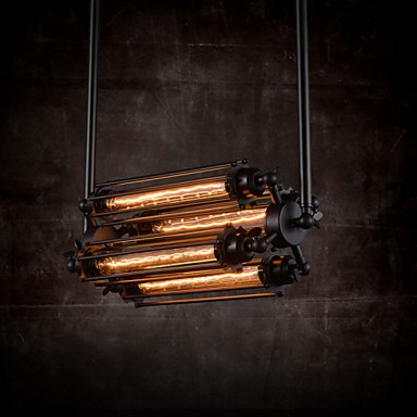 MAX 60W Rustic/Lodge / Retro Mini Style Electroplated Metal Chandeliers Living Room / Bedroom / Dining Room / Study Room/Office