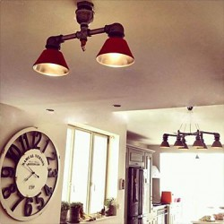Max 60 Watt Vintage / Country LED / Bulb Included Metal Spot Lights