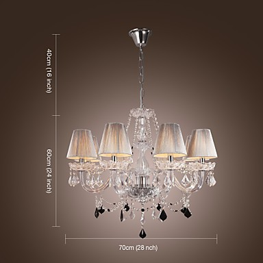 Chandelier Crystal Luxury Modern Living 8 Lights