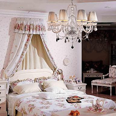 Chandelier Crystal Luxury Modern Living 8 Lights