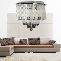 Crystal Semi Flush Mount with 8 Lights