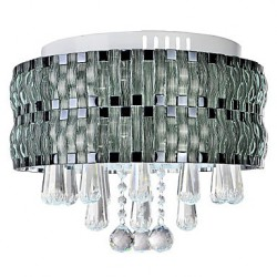 Graceful LED Crystal Flush Mount 90-240V