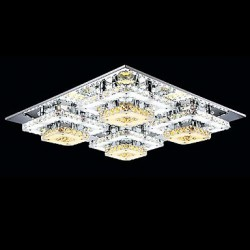 16W Modern/Contemporary Crystal Chrome Metal Flush Mount Living Room