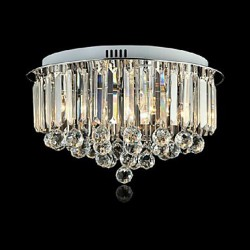 Modern/Contemporary / Traditional/Classic Crystal / LED Painting Metal Flush Mount Living Room / Bedroom / Dining Room