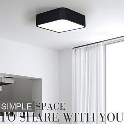 Modern/Contemporary LED / Bulb Included Painting Metal Flush Mount Bedroom / Dining Room / Kitchen / Study Room/Office / Hallway