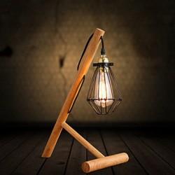 Desk Lamps Arc Rustic/Lodge Wood/Bamboo