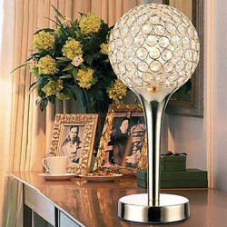 Crystal Table Lamps, Modern/Comtemporary Metal