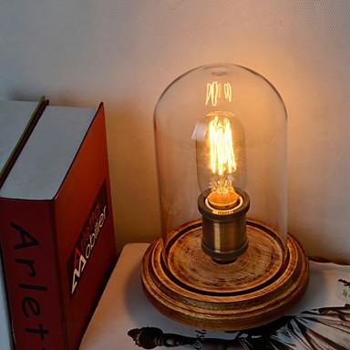 modern fashion wood table lamp glass bell jar wooden table lamp bedroom bedside style lighting pop. Black Bedroom Furniture Sets. Home Design Ideas
