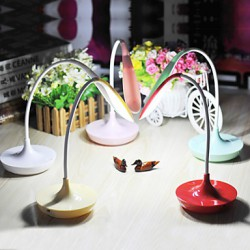 Modern Creative Multicolor USB Rechargeable Touch Control 600Lx LED Desk Lamp Table Lamp