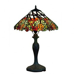 Tiffany-style Floral Bronze Finish Table Lamp(0923-TF9)