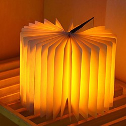Portable Bedroom Flip folding Night Light USB Charge LED Book Light Decor Lamps (Random Color)