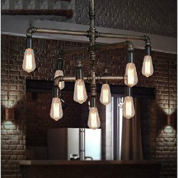 MAX 40W Traditional/Classic / Vintage / Retro / Lantern / Country Painting Metal Pendant LightsLiving Room / Bedroom / Dining Room /