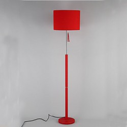 Cloth art leather Chinese style floor lamp