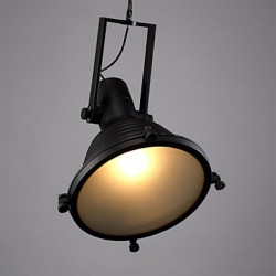 Retro Bar Iron Pendant Lamp and Glass Shade For Coffee Shop