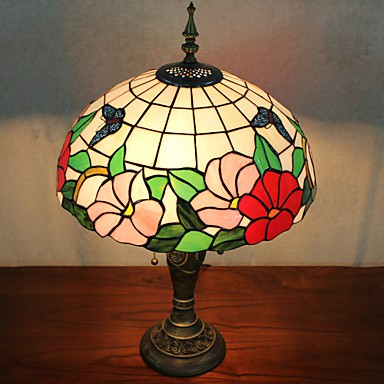 Table Lamp 2 Light Nature Inspired Resin Gl Painting
