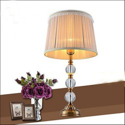 The Desk lamp Decoration lamp Simple European Crystal Copper