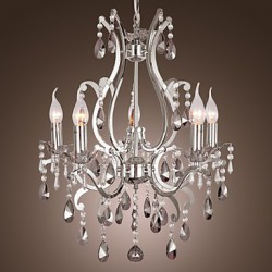 Max 40W Traditional/Classic Chrome Chandeliers Living Room / Bedroom / Dining Room