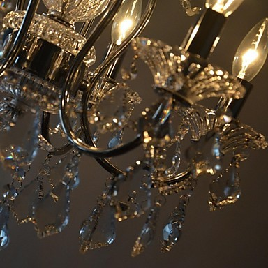 MAX:60W Traditional/Classic Crystal Chrome Metal Chandeliers Bedroom / Dining Room / Study Room/Office / Entry / Hallway