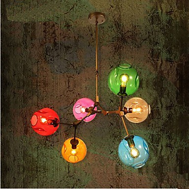 Art Color Glass Bulb Pendant Living Room Dining Room 6