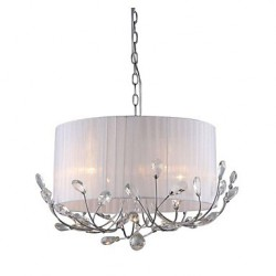 Modern Crystal Chandelier With Fabric Shade Max 4*40W