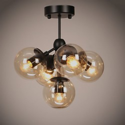 Chandeliers 5 Lights/Glass Ball Lights/ Retro Living Room / Hallway / Outdoors / Garage Metal