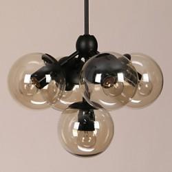 Chandeliers 5 Lights/Glass Ball Lights/ Retro Living Room / Hallway / Outdoors / Garage Metal