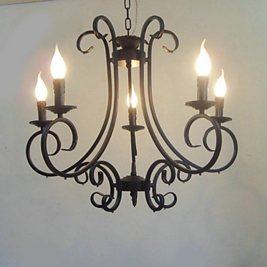 Max 40W Traditional/Classic Painting Metal Chandeliers Bedroom / Dining Room / Kitchen