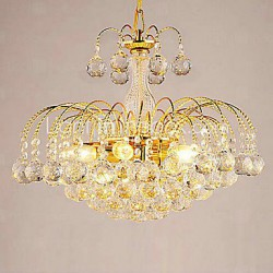 Max 40W Modern/Contemporary Crystal Electroplated Chandeliers Living Room / Bedroom / Dining Room