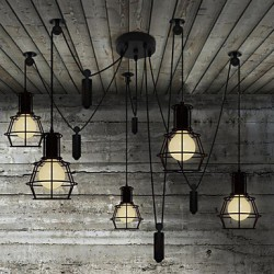 5 Heads Chandeliers Rustic/Lodge/Vintage/Retro/Country Bedroom/Hallway Metal