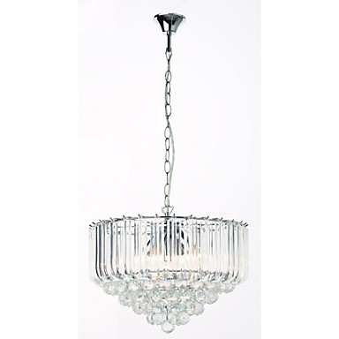 Modern Acrylic Crystal Style Chandelier, 5 Lights