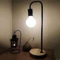 Retro Industrial Desk Lamp Of Bedroom The Head Of A Bed Simple Solid Wood Desk Lamp
