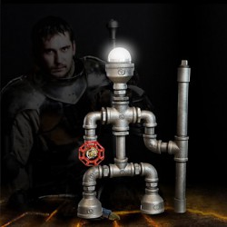 Robot Light Modern Industrial Cast Pipe Light Pipe Desk Lamp Birthday Gifts Hot!