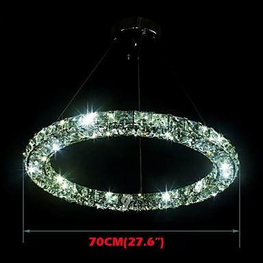 LED Crystal Pendant Light Lighting Modern Single D70CM Three Sides K9 Crystal Indoor Ceiling Lights Lamp Fixtures