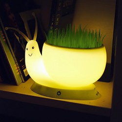 18.5*8.8*9.5CM Snail Light Creative Small Night Light Usb Rechargeable Office Green Plant Led Desk Lamp Light Led